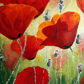 ציורי כלניות ופרגים