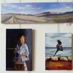 גילן יקא בתערוכת ציירי הסטודיו של מירי לביא