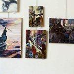 חנה ויינשטיין בתערוכת ציירי הסטודיו של מירי לביא