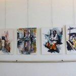 יעל שטיירמן בתערוכת ציירי הסטודיו של מירי לביא