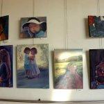 רות חלפון בתערוכת ציירי הסטודיו של מירי לביא