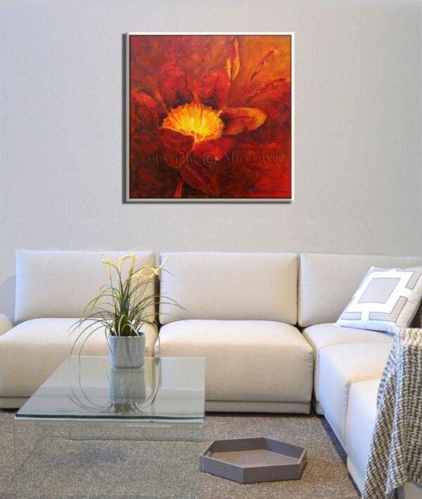 ציור פרח אדום גדול