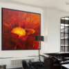 תמונה גדולה לסלון, ציור פרח של אור