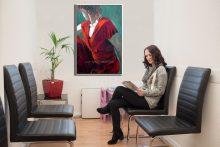 ציור אישה עבור מרפאה לבריאות האישה