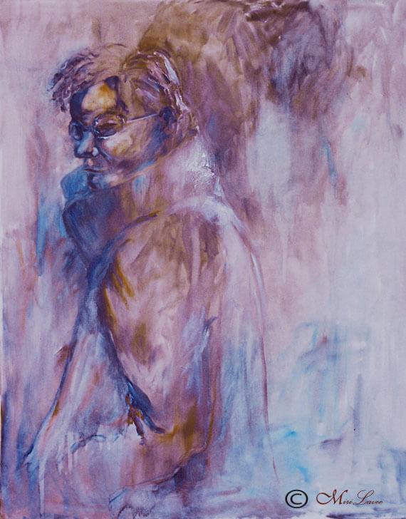 ציור אישה הולכת