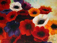 ציור כלניות צבעוניות ציירת מירי לביא