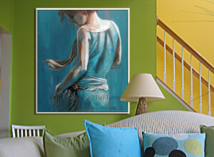 ציור אישה רוקדת לעיצוב הסלון