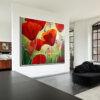 ציור גדול של פרגים לסלון