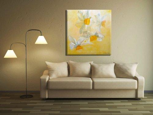 ציור פרחים נרקיסים תמונה לסלון