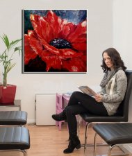 -wall-art-for-office-clinic-Anemone-flower-painting