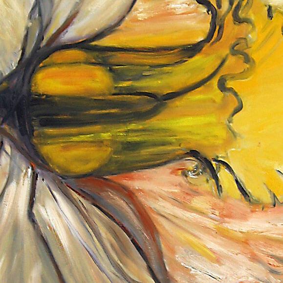 ציור פרח גדול, ציור נרקיס