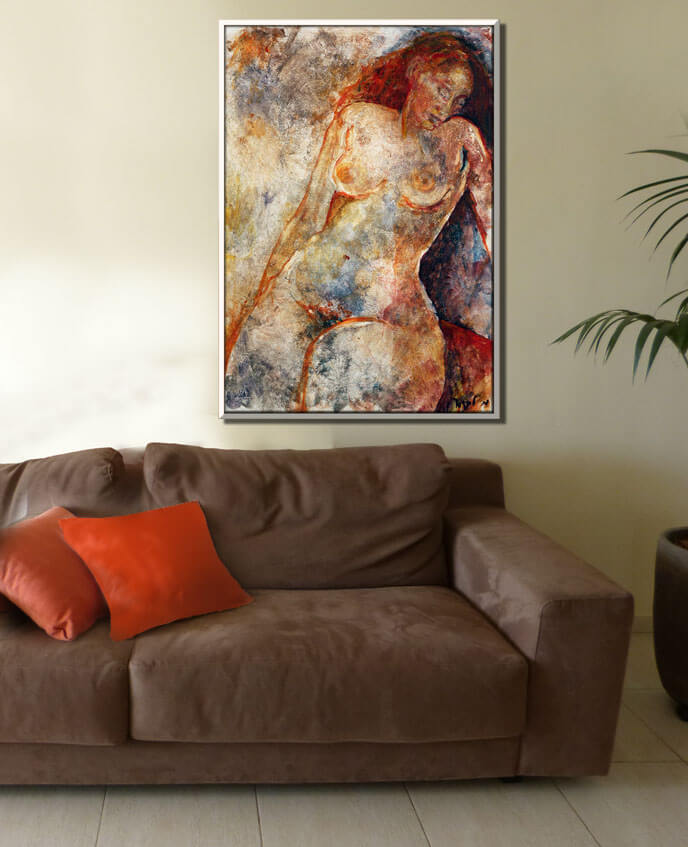 Nude Painting in warm colors