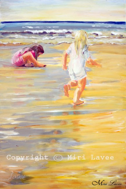 ילדים על החוף