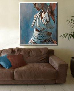 ציור אישה רוקדת