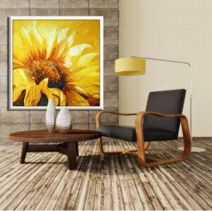 ציור גדול של חמנייה לסלון