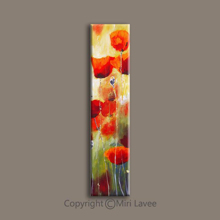 ציור פרחים לבית, ציור מאורך