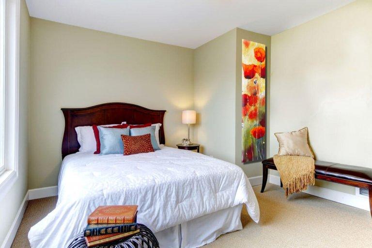 ציור פרחים לחדר שינה