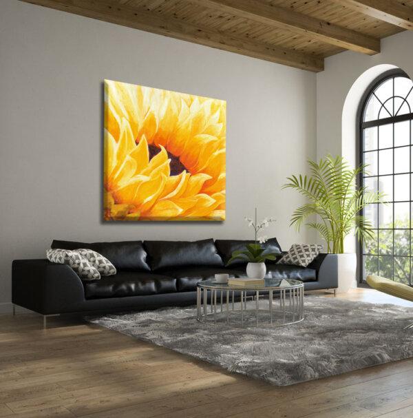 ציור חמנייה גדול לבית