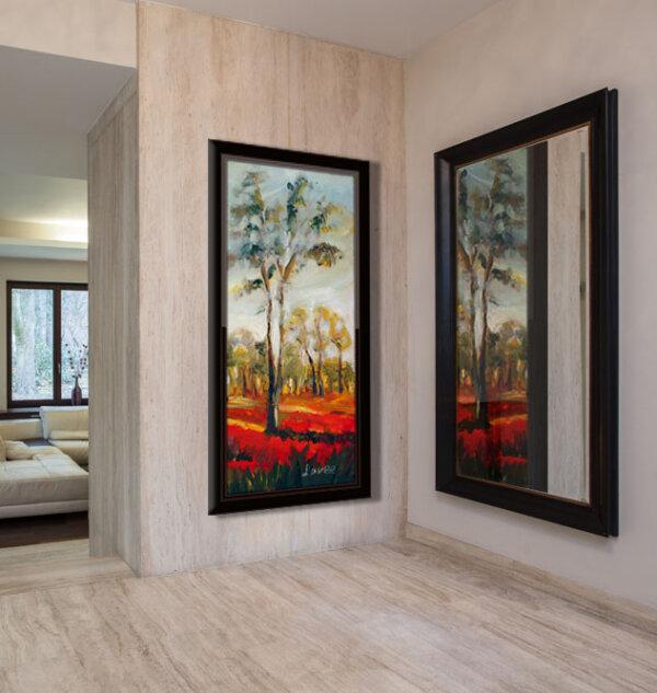 ציור נוף שדה כלניות ציירת מירי לביא