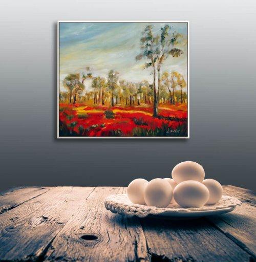 ציור שדה פרגים