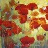 ציור פרגים אורגינלי, ציור פרחים אדומים בשדה