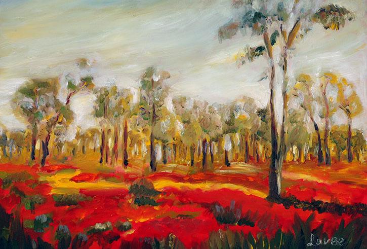 תמונת נוף כלניות אדומות