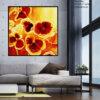 ציור פרחים, תמונת לסלון
