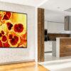 ציור פרחים אדומים לסלון