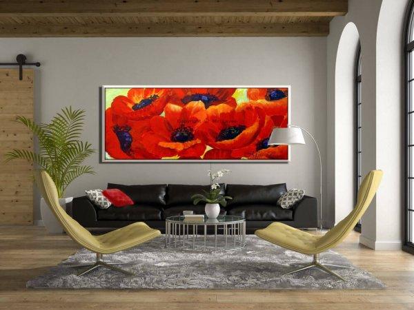 ציור פרחים לסלון, ציור כלניות