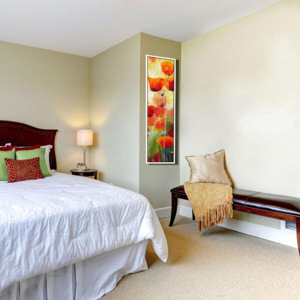 ציור פרחים לחדר השינה ציירת מירי לביא