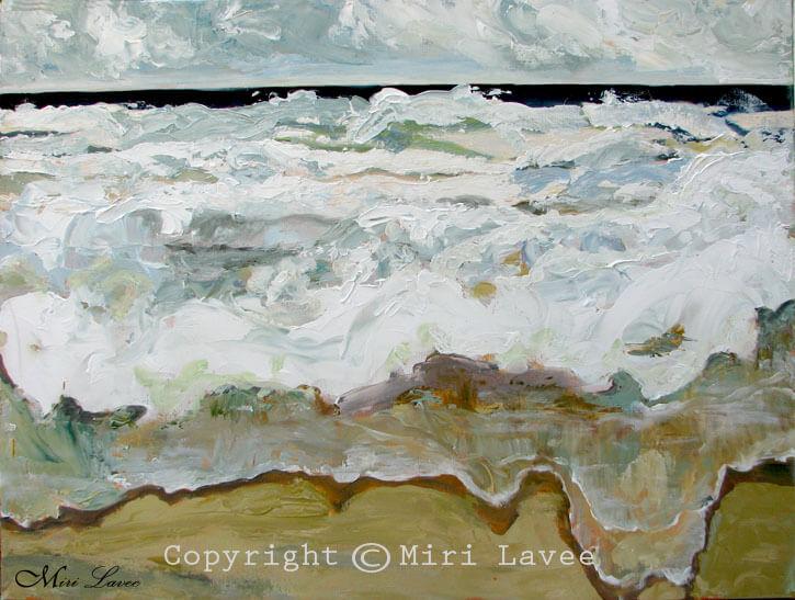 ציור גלים