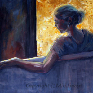 ציור אישה יושבת