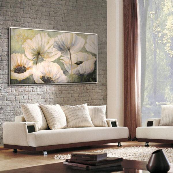 ציור כלניות לבנות, ציור לסלון