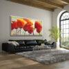 ציור פרחים לסלון