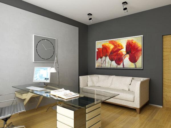 ציור פרחים למשרד