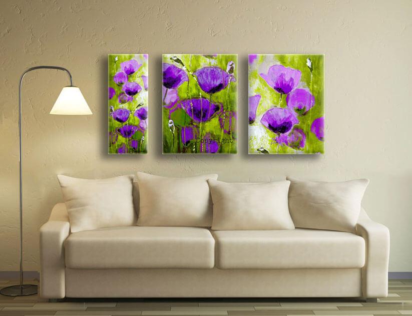 ציורי פרחים סגולים
