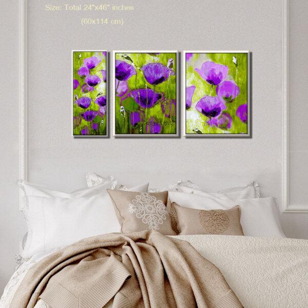 תמונה מחולקת לחדר השינה ציירת מירי לביא
