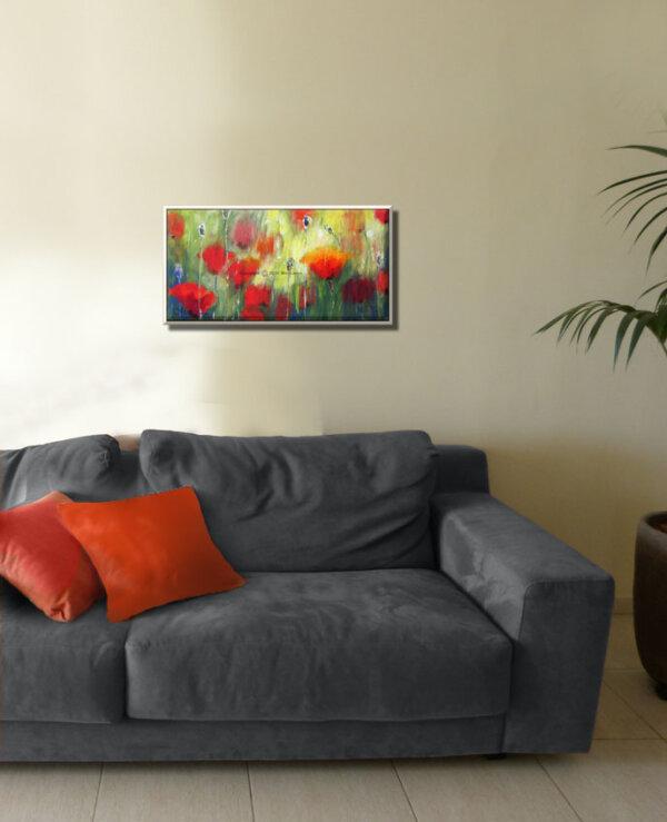תמונת פרחים קטנה לסלון