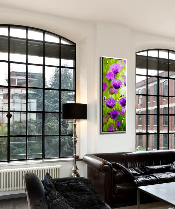 תמונת פרחים סגולים לסלון