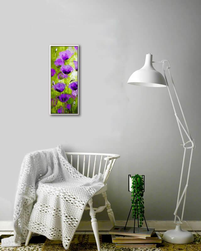 ציור פרחים סגולים
