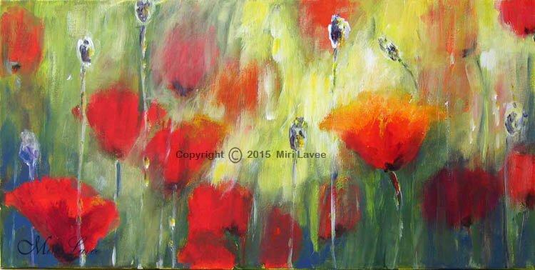 ציור פרחים, ציור פרגים