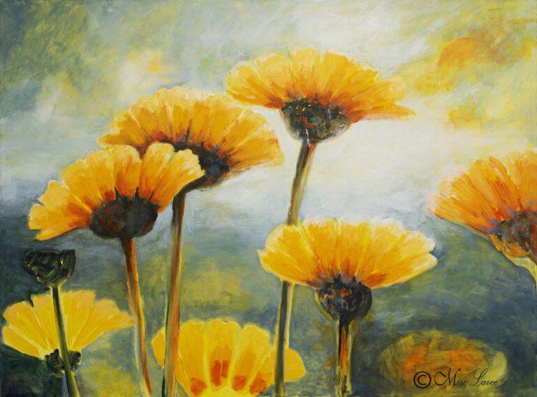 ציור פרחים גדול