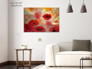 תמונת קנבס של פרחים כלניות